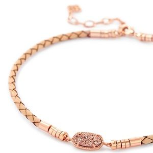 Kendra Scott Choker Rose Gold Drusy